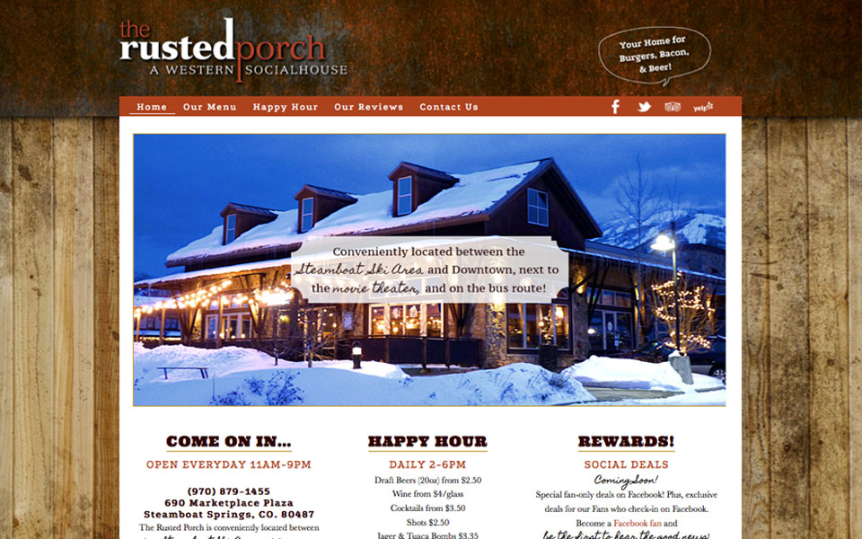 Restaurant Web Design Amp Social Media Management For The