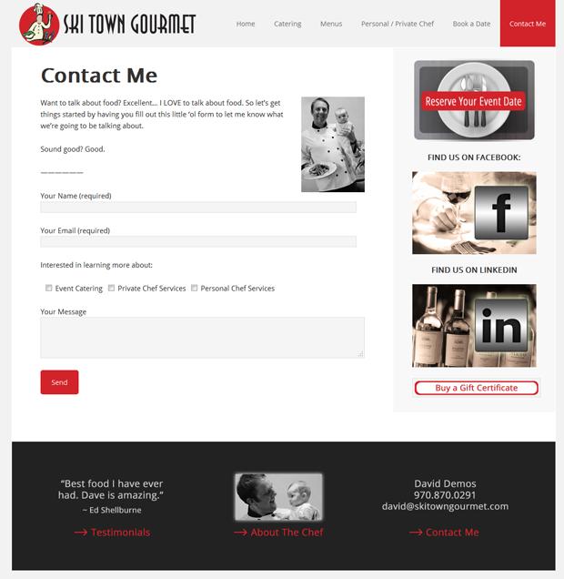 Ski Town Gourmet - CONTACT