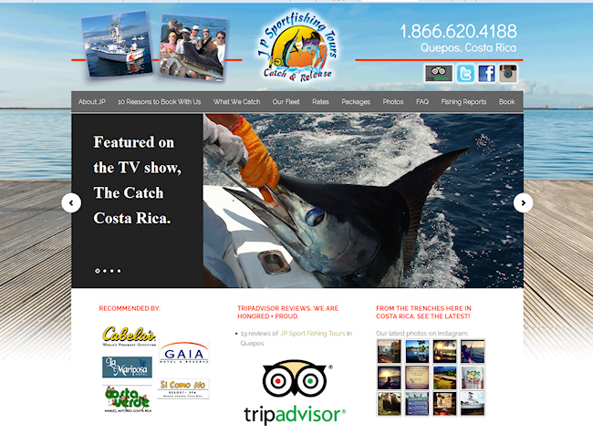 JP Sport Fishing Website